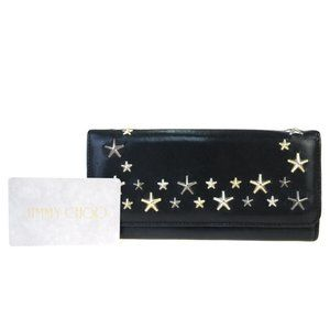 Jimmy Choo Studs Leather Bill Wallet (bi-fold)
